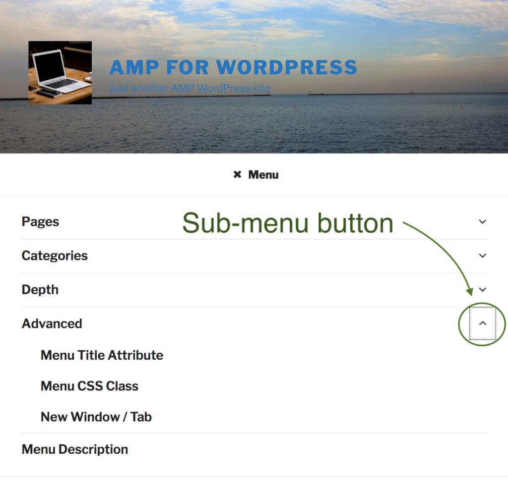 2017 Theme Sub-menu Button