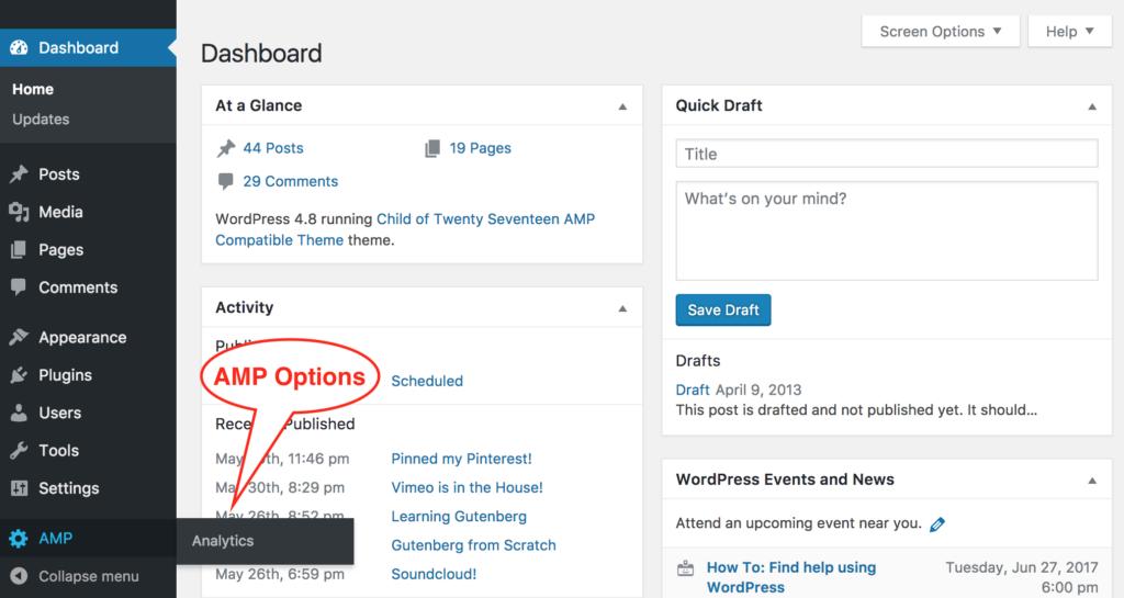 Analytics : AMP for WordPress