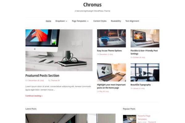 Chronus WordPress AMP compatible theme