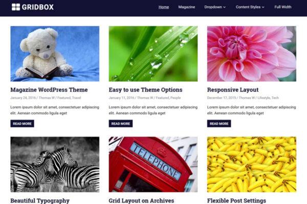gridbox WordPress AMP compatible theme