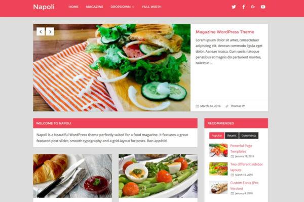 napoli WordPress AMP compatible theme
