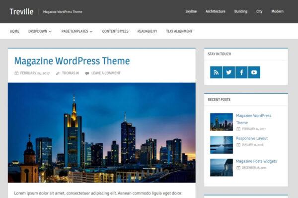 treville AMP compatible WordPress theme