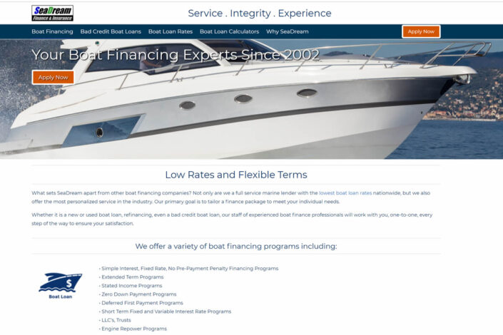 SeaDream Boat Financing
