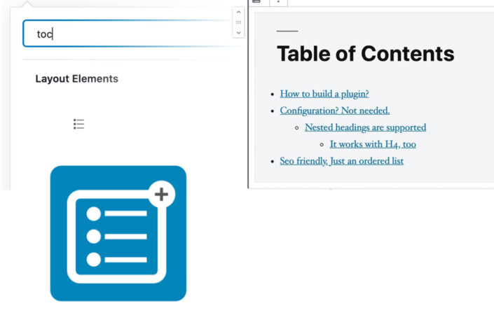 Simple Table of Contents Block