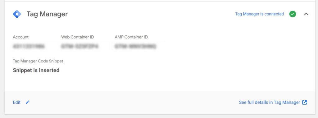 Tag Manager AMP